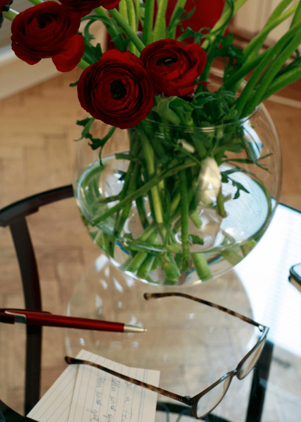 Blumenstrauß in Praxis Grundlgasse